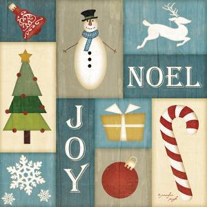 Holiday Sampler Blue II by Jennifer Pugh