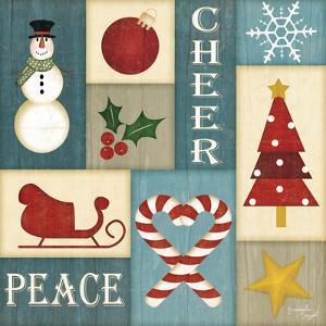 Holiday Sampler Blue by Jennifer Pugh