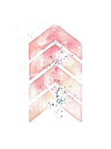 Pink Geometric Arrow by Jennifer Pugh