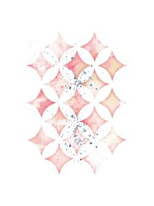 Pink Geometric Diamonds by Jennifer Pugh