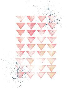 Pink Geometric Triangles by Jennifer Pugh