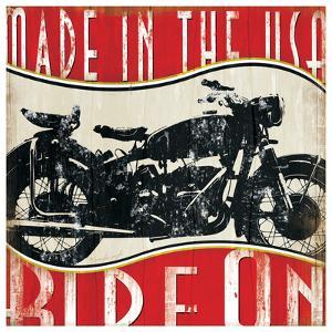 Vintage Motorcycle by Jennifer Pugh