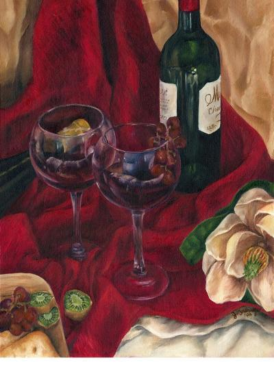 Jennifer's Wine Indulgence II-Jennifer Goldberger-Art Print