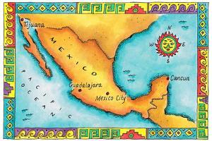 Map of Mexico by Jennifer Thermes
