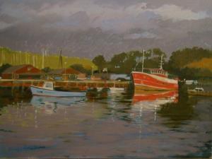 Fisherman's Quay, Salcombe by Jennifer Wright