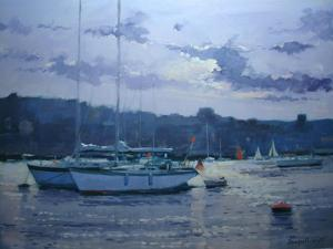 Moored Yachts, Late Afternoon by Jennifer Wright