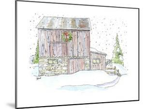 Barn Wreath Snow by Jennifer Zsolt