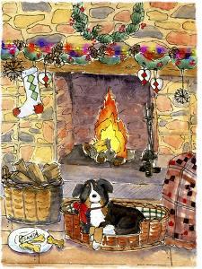 Fireside Dog by Jennifer Zsolt