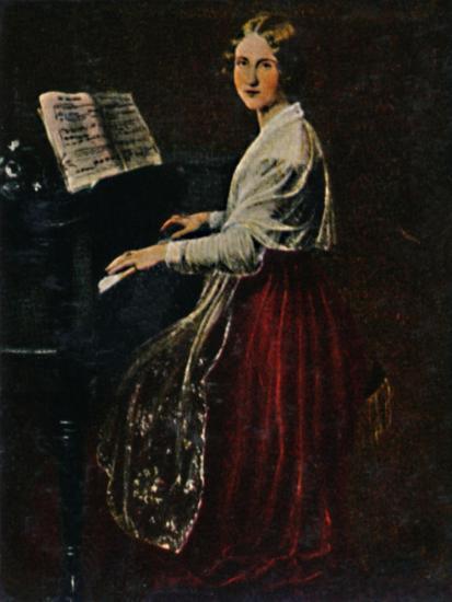 'Jenny Lind 1820-1887. - Gemälde von Asher', 1934-Unknown-Giclee Print