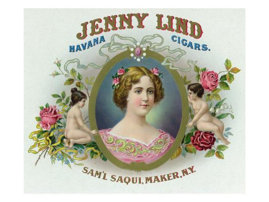 Jenny Lind Brand Cigar Box Label-Lantern Press-Art Print