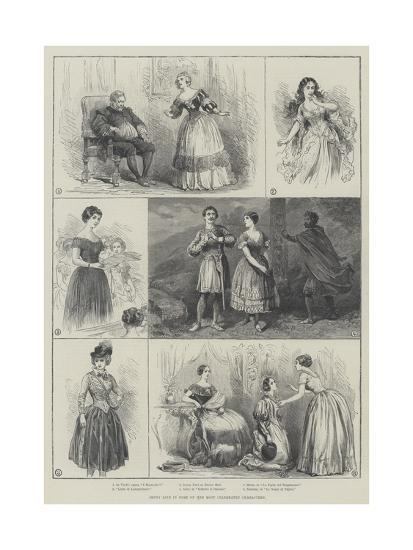 Jenny Lind in Some of Her Most Celebrated Characters--Giclee Print