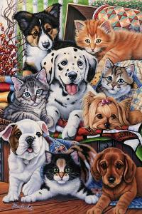Country Pups and Kittens II by Jenny Newland