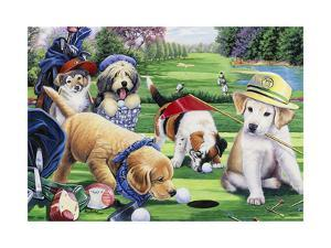 Golfing Puppies by Jenny Newland