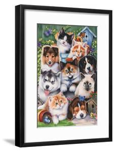 Kittens and Puppies in the Garden by Jenny Newland