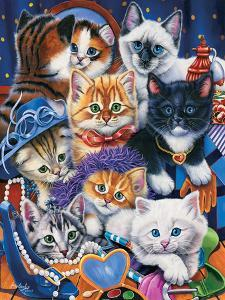 Kittens in Closet by Jenny Newland