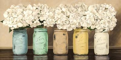 Hydrangeas in Mason Jars by Jenny Thomlinson