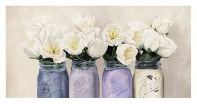 Tulips in Mason Jars (detail)