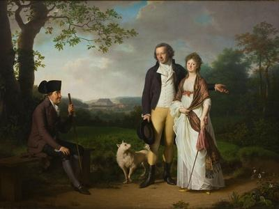Niels Ryberg with His Son Johan Christian and His Daughter-In-Law Engelke, Née Falbe, 1797