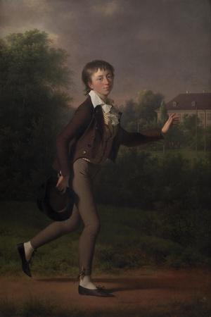 Running boy. Marcus Holst von Schmidten, 1802