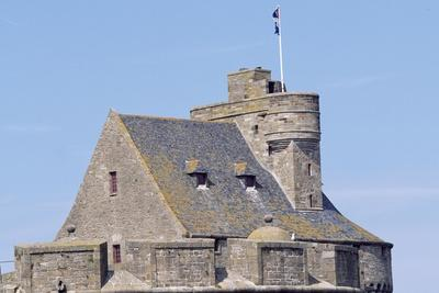 View of Keep of Saint-Malo Castle, Saint-Malo, Brittany, France