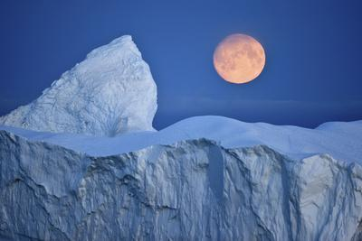 Full Moon over an Iceberg at Dusk, Saqqaq, Disko Bay, Greenland, September 2009