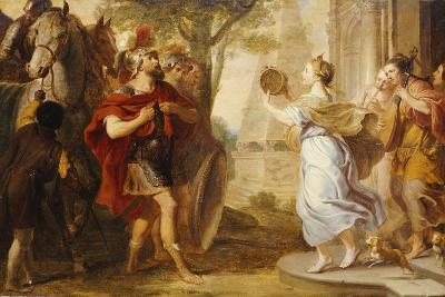 Jepthah Greeted by His Daughter-Erasmus Quellinus-Giclee Print