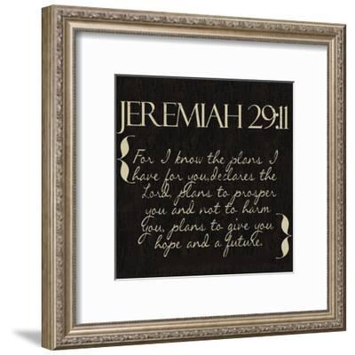 Jeremiah 29-11-Taylor Greene-Framed Art Print