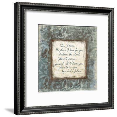Jeremiah 29:11-Jace Grey-Framed Art Print