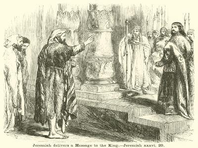 Jeremiah Delivers a Message to the King, Jeremiah, XXXVI, 29--Giclee Print