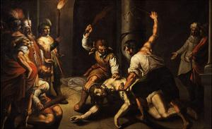 The Flagellation of Christ by Jeremie Le Pilleur