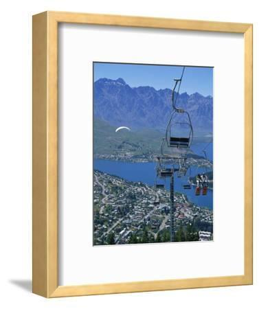 Chair Lift with Lake Wakatipu, the Remarkable Mountains and Queenstown, South Island, New Zealand