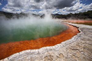 Champagne Pool, Hot Springs, Waiotapu Goethermal Wonderland, Rotorua, New Zealand, Oceania by Jeremy Bright