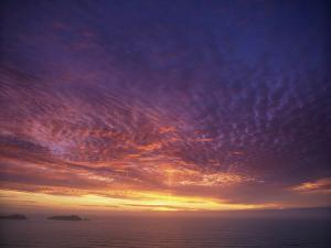 Colourful Skies at Dusk, over Seascape, New Zealand, Pacific by Jeremy Bright