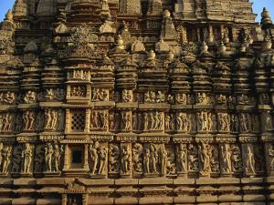 Detail of Erotic Decoration on Temple at Khajuraho, Madhya Pradesh State, India by Jeremy Bright