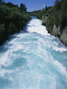 Hukanui, the Huka Falls on the Waikato River, North Island of New Zealand, Pacific by Jeremy Bright