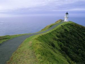 Lighthouse, Cape Reinga, Northland, North Island, New Zealand, Pacific by Jeremy Bright