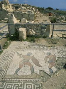 Mosaic, the House of Gladiators, Kourion, Cyprus, Europe by Jeremy Bright