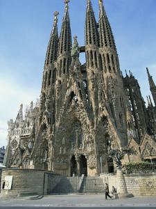 Sagrada Familia, the Gaudi Cathedral in Barcelona, Cataluna, Spain, Europe by Jeremy Bright