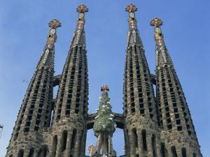 Spires of the Sagrada Familia, the Gaudi Cathedral in Barcelona, Cataluna, Spain, Europe by Jeremy Bright