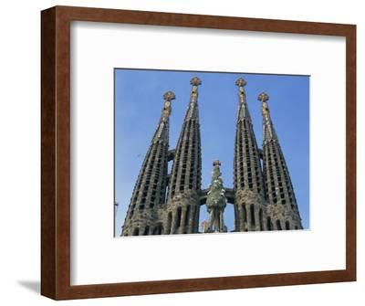 Spires of the Sagrada Familia, the Gaudi Cathedral in Barcelona, Cataluna, Spain, Europe