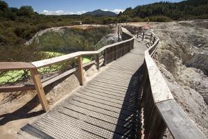 The Devil's Bath Walkway, Waiotapu Goethermal Wonderland, Rotorua, New Zealand, Oceania by Jeremy Bright