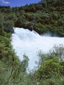 The Huka Falls, Known as Hukanui (Great Body of Spray) in Maori, 10M High, Waikato River by Jeremy Bright