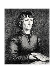 Engraving of Nicolas Copernicus, Polish Astronomer by Jeremy Burgess