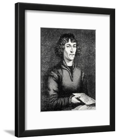Engraving of Nicolas Copernicus, Polish Astronomer