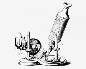 Robert Hooke's Microscope In Micrographia 1665 by Jeremy Burgess