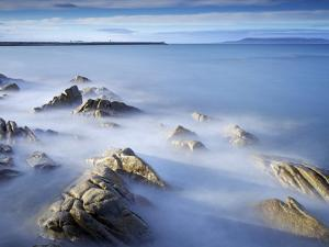 Dun Laoghaire Pier and Howth Island, Dublin, County Dublin, Republic of Ireland, Europe by Jeremy Lightfoot