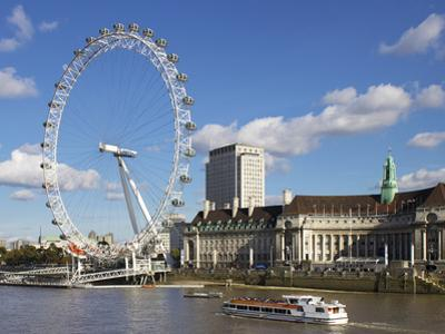 London Eye, River Thames, London, England, United Kingdom, Europe by Jeremy Lightfoot