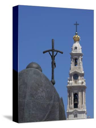 Statue of Pope John Paul II and Basilica, Fatima, Portugal, Europe