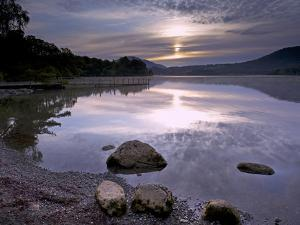 Sunrise, Derwent Water, Lake District National Park, Cumbria, England, United Kingdom, Europe by Jeremy Lightfoot