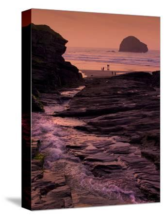 Sunset, Trebarwith Strand, Cornwall, England, United Kingdom, Europe